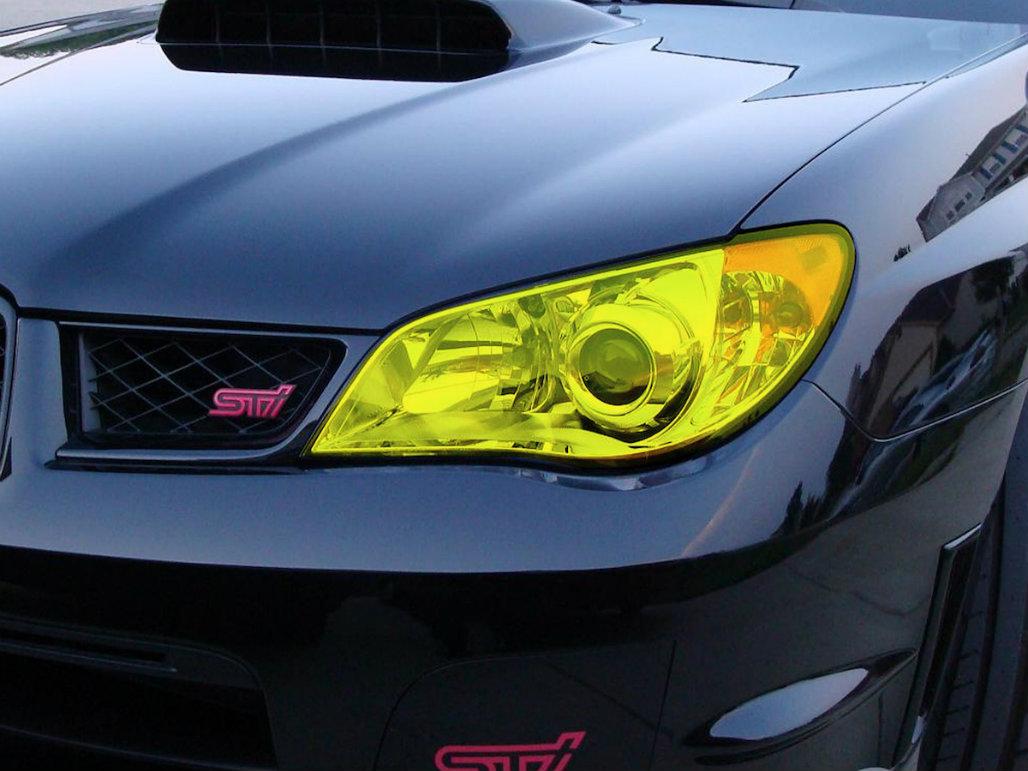 Yellow Headlight Tint Kit 2006 2007 Wrx Sti Premium Auto Styling Fog Light Wiring Harness Easy Installation 01 Head Lights