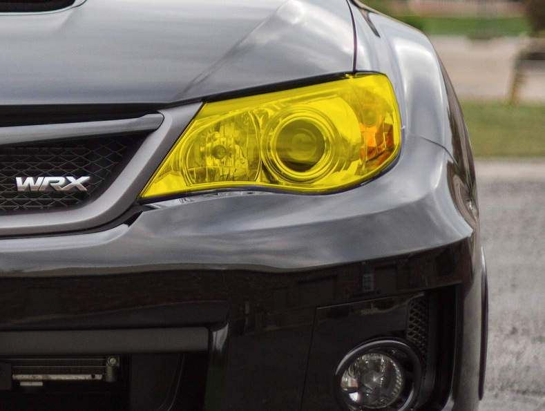 2008 2014 Subaru Wrx Sti Yellow Headlight Tint Kit